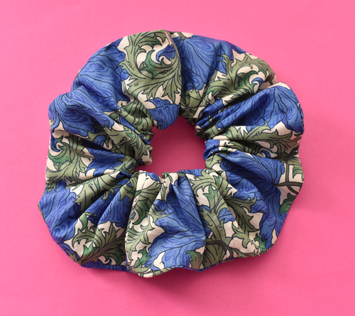 Scrunchie - Liberty of London Blue Anemone