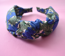 Ladies Knot Alice headband - Liberty of London Blue Anemone