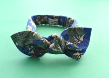 Ladies Tot Knot hairband - Liberty of London Blue Anemone