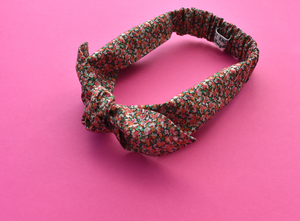 Ladies Tot Knot hairband - Liberty of London Pink Ditsy