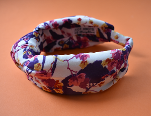 Luxury Silk Knot Alice band - Liberty of London Artist Ombrellino printed silk