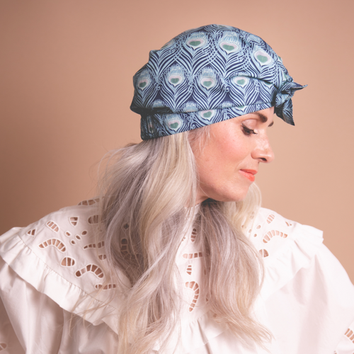 Ladies Turban Hat - Liberty of London Caesar Peacock Feather