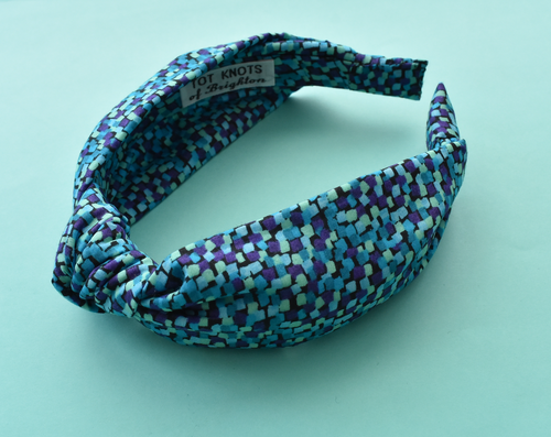 Ladies Knot Alice headband - Liberty of London Mayhaze Blue