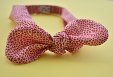 Ladies Tot Knot hairband - Red and White Floral - Tot Knots of Brighton