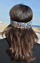 Multicoloured graphic Twisted Turban hairband and neck scarf - Tot Knots of Brighton