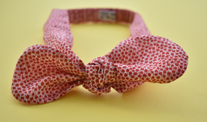 Tot Knot hairband - Liberty of London Red and White Ditsy Floral - Tot Knots of Brighton