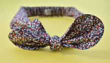 Tot Knot hairband - Liberty of London Red, White and Blue Pepper - Tot Knots of Brighton