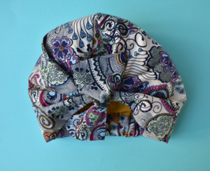 Little Land Girl Baby Hat - Liberty of London Bright Paisley print - Limited Edition - Tot Knots of Brighton
