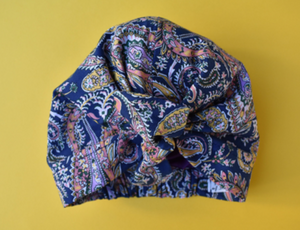 Little Land Girl Baby Hat - Liberty of London Blue and Pink Paisley - Limited Edition - Tot Knots of Brighton