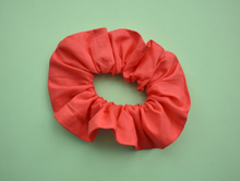 Coral Red Scrunchie - Tot Knots of Brighton