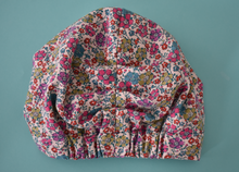 Ladies Turban Hat - Little Pink and Aqua Florals Liberty of London print - Tot Knots of Brighton