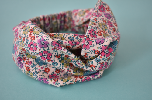 Kids Tot Knot Twisted hairband - Pretty Bright Floral Liberty of London print - Tot Knots of Brighton