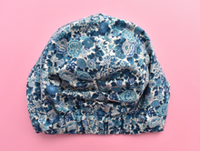 Little Land Girl & Baby Hat - China Blue & White Floral Print - Tot Knots of Brighton