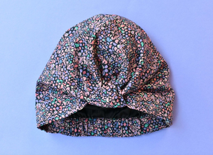 100% silk lined Turban & Head wrap in purple Liberty of London - Tot Knots of Brighton