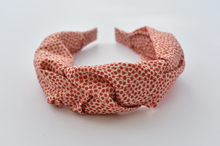 Ladies Tot Knot Alice band - Liberty of London Red and White floral print - Tot Knots of Brighton