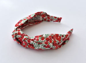 Ladies Tot Knot Alice band - Liberty of London Wiltshire Berry print - Tot Knots of Brighton