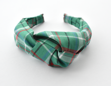 Ladies Tot Knot Alice band - Liberty of London Green Tartan print-Adult hairband-Tot Knots of Brighton