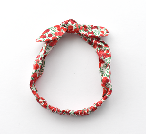 Kids Christmas Tot Knot hairband - Liberty of London Wiltshire Berries for Christmas - Tot Knots of Brighton