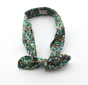Ladies Tot Knot hairband - Liberty of London Green Spotty for Christmas - Tot Knots of Brighton