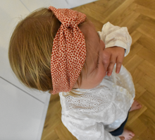 Kids Tot Knot Twisted hairband - Christmas Liberty of London Red Marco print - Tot Knots of Brighton