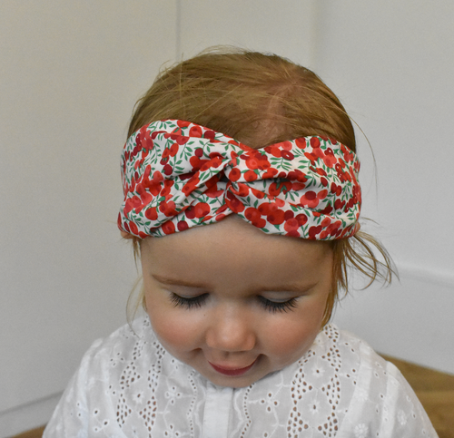 Kids Tot Knot Twisted hairband - Wiltshire Berry Liberty of London print - Tot Knots of Brighton