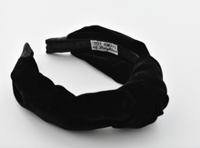 Ladies Tot Knot Alice band - Black Velvet - Tot Knots of Brighton