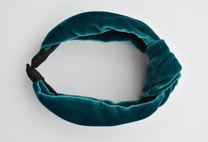 Ladies Tot Knot Alice band - Turquoise Velvet - Tot Knots of Brighton