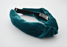 Ladies Tot Knot Alice band - Turquoise Velvet-Adult hairband-Tot Knots of Brighton