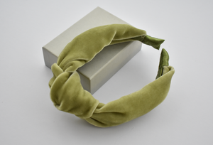 Ladies Tot Knot Alice band - Lime Green Velvet - Tot Knots of Brighton