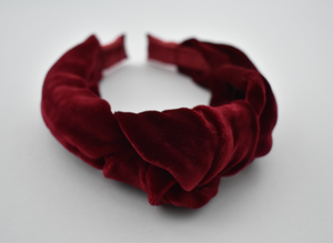 Ladies Tot Knot Alice band - Ruby Red Velvet - Tot Knots of Brighton