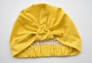 100% silk lined Turban & Head wrap - Yellow Liberty of London - Tot Knots of Brighton