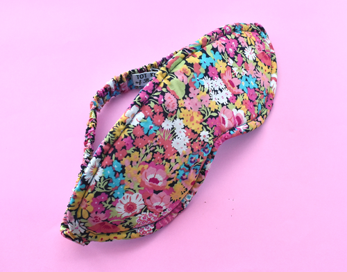 100% Pure Silk-lined Sleep Eye Mask - Ciara Liberty print - Tot Knots of Brighton