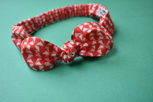 Tot Knot hairband- Red and White Jonathan Liberty of London Print - Tot Knots of Brighton