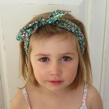 Tot Knot hairband - Green Spots - Tot Knots of Brighton