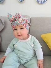 Little Land Girl Baby Turban Hat - Liberty Poppy & Daisy - Tot Knots of Brighton