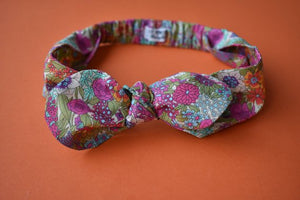 Ladies Tot Knot hairband- Foxgloves - Tot Knots of Brighton