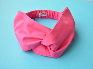 Liberty Pink Twisted Turban hairband and neck scarf - Tot Knots of Brighton