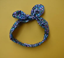 Ladies Tot Knot hairband - Green Spots - Tot Knots of Brighton