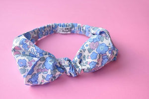 Tot Knot hairband - Liberty of London Betsy Pink and Blue - Tot Knots of Brighton