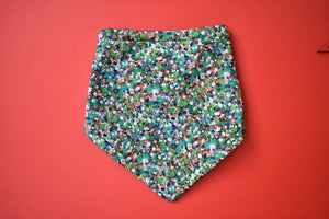 Baby dribble bib - Green Reflections Liberty of London - Tot Knots of Brighton