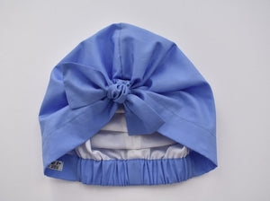 Ladies Turban Hat - Liberty of London Periwinkle Blue - Tot Knots of Brighton