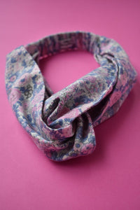 Kids Tot Knot Twisted hairband - Winter Rose Floral Liberty of London print - Tot Knots of Brighton