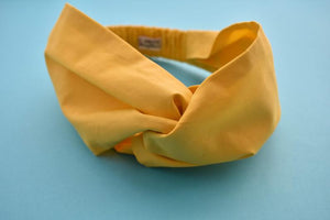 Yellow Twisted Turban hairband and neck scarf - Tot Knots of Brighton