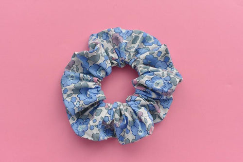 Pink and Blue Liberty of London Betsy Scrunchie - Tot Knots of Brighton