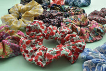 Red and White Retro Geometric Liberty of London Jonathan Scrunchie - Tot Knots of Brighton