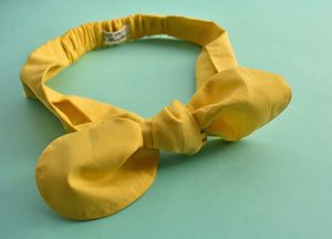 Ladies Tot Knot hairband - Liberty of London Yellow - Tot Knots of Brighton