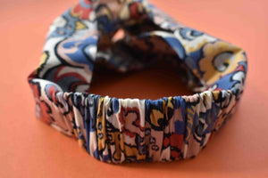 Tot Knot Twisted hairband- Liberty of London Multicolour Graphic print - Tot Knots of Brighton