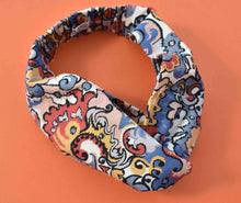 Tot Knot Twisted hairband - Liberty of London Multicolour Graphic print - Tot Knots of Brighton