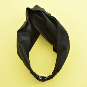 Black Liberty of London  - Twisted Turban hairband and neck scarf - Tot Knots of Brighton