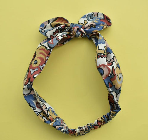 Tot Knot hairband - Liberty of London Multicolour Graphic Print - Tot Knots of Brighton